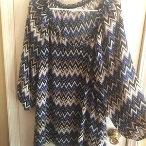 Chevron long flowy shirt.
